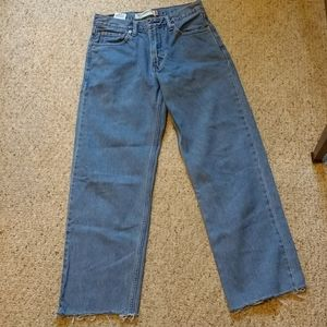 Levi's 550 Relaxed Fit Raw Hem Jeans Size 30